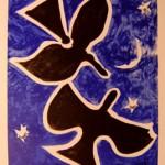 Deux Oiseau sur Fond Bleu