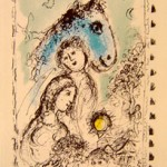 Blue Horse with Couple