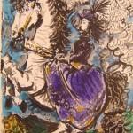 Jacqueline en un Caballo