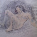 Reclining Nude Brunette