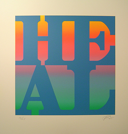 Robert Indiana Heal 2015 Variation Positive